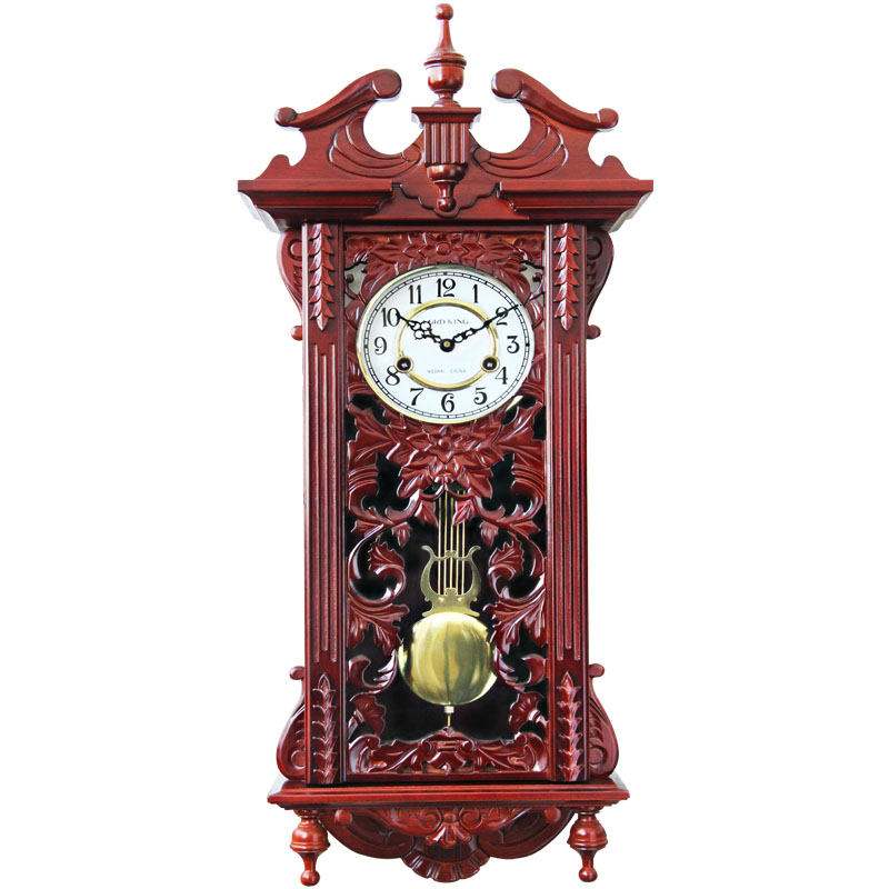 lordking)挂钟欧式复古整点打铃客厅创意实木摆钟332