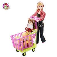 乐吉儿梦幻 洋布芭比娃娃礼盒套装正品 可儿女孩玩具