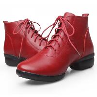 舞蹈鞋女式舞蹈鞋广场舞蹈鞋跳舞鞋软底增高现代广场舞靴秋冬