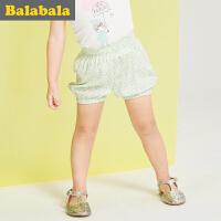 【6.26巴拉巴拉超级品牌日】巴拉巴拉女童短裤小童宝宝童装夏装儿童休闲透气印花裤子