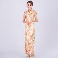 中式婚庆典礼仪鱼尾旗袍 新娘敬酒服婚服结婚 礼服长款立领包肩袖