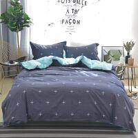 OLYI 纯棉床上用品四件套 全棉斜纹印花床单式家纺四件套 纯棉床品四件套 床上四件套