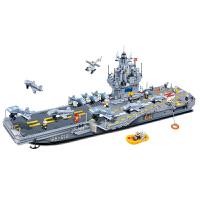 邦宝军事模拟 塑料拼插益智积木儿童礼物玩具军舰 航空母舰 2580片8411航空母舰