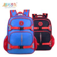 阳光8点大容量儿童安全书包小学3-6年级男童减负护脊双肩背包韩版