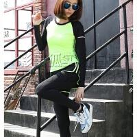 新款套装假两件运动裤女健身跑步瑜伽紧身弹力套装长裤