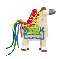 Hape 小马穿绳 3岁以上 串珠绕珠系列 儿童益智创意玩具 E1016