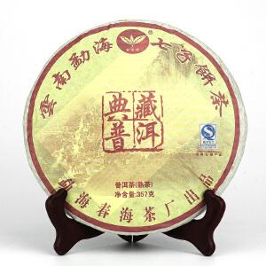 【一件 42片】2009年典藏金芽宫廷 仓储好一口料 熟茶