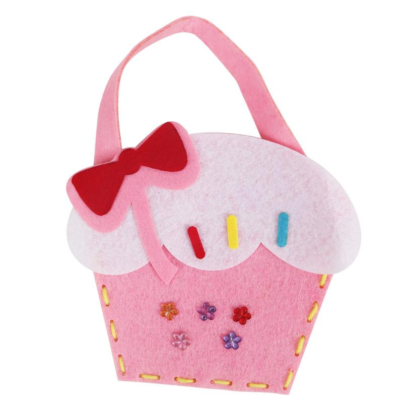 儿童不织布手提包幼儿园diy无纺布创意粘贴手工制作材料包免裁剪