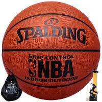 斯伯丁篮球74-604Y(原74-221)PU皮室内外NBA比赛训练用球