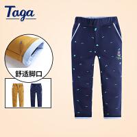 【满200-100】TAGA童装男童梭织长裤2017新款冬季休闲时尚裤子
