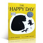 The Happy Day 快乐的一天 Ruth Krauss(露丝・克劳斯)凯迪克银奖 大开本 适合4-8岁 送音频