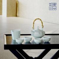 【如果出品】竹提影青 陶瓷功夫茶具套装茶壶茶杯整套茶道茶具