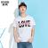 森马短袖T恤2017夏装新款 男士圆领学生青少年别致字母印花半袖T