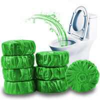 12个装绿泡泡洁厕宝蓝泡泡洁厕灵块厕所马桶自动清洁剂除臭去污马桶清洁剂洁厕球 厕所除臭异味杀抗菌