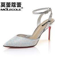 莫蕾蔻蕾  高跟鞋女细跟凉鞋高跟单鞋 6X232