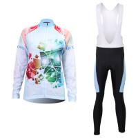 炫彩女款骑行服长袖套装自行车服春秋季吸湿排汗速干衣骑行服