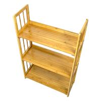 颐海楠竹五层制实木书架 简易两层书房桌上书柜儿童三层小层架四层置物架