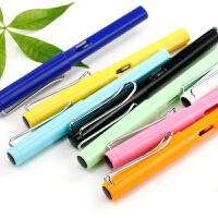章紫光大尖暗尖正姿钢笔塑料透明学生用练字可替换墨囊办公签字成人钢笔