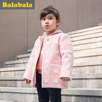 【6.26巴拉巴拉超级品牌日】巴拉巴拉童装女童呢衣小童宝宝上衣冬装毛呢外套儿童女孩