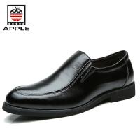 苹果APPLE皮鞋 男士正装鞋 新款商务休闲鞋 低帮套脚男鞋时尚潮鞋4240017