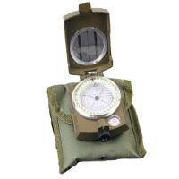 户外休闲登山美式军用多功能指南针带夜光罗盘指北针 户外仪表