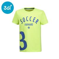361度童装2017年夏季新款正品男童短袖T恤儿童运动短袖针织衫