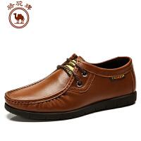 骆驼牌 春季新款 日常休闲男皮鞋 系带男皮鞋 耐磨