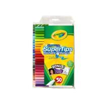 绘儿乐/Crayola 儿童 50色 可水洗 细杆 水彩笔 安全无毒 学习