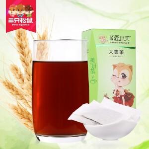 【三只松鼠_小美大麦茶60gx2盒】花茶草茶 花草茶 大麦茶 大麦袋泡茶 烘焙型麦香