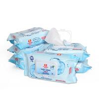 棒棒猪婴儿湿巾 宝宝湿巾婴儿手口湿巾湿纸巾 湿巾纸带盖80抽*6