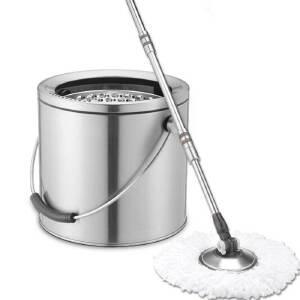 拓朴大卫赛帝思D3旋转拖把桶双驱动全不锈钢墩布拖把厨卫清洁用具