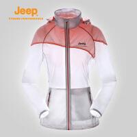 【全场2.5折起】JEEP/吉普 女士皮肤衣透气户外运动皮肤风衣外套J656010139