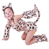 宝宝表演 儿童演出服女跳舞蹈衣 波斯猫动 物造型花色服装套装男春秋季