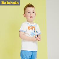 巴拉巴拉男童短袖t恤小童宝宝上衣童装夏儿童图案体恤男