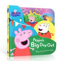 英文原版进口绘本 小猪佩奇 粉红猪小妹 Peppa Pig: Peppa's Big Day Out 粉红猪小妹趣味玩具书纸板书 2-4岁儿童启蒙阅读书
