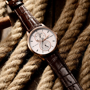 天王 表 石英表 潮流男士腕表 个性表盘日历商务品质手表3804