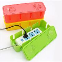 散热电源线插座收纳盒集线盒电线整理盒散热盒精致彩盒 颜色随机