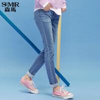 森马牛仔裤 秋装 女士中低腰修身小脚弹力牛仔长裤韩版潮