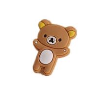 三星 iphone4S塞 卡通可爱轻松熊软胶防尘塞 手机/耳机孔塞