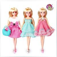 全店满99包邮!乐吉儿正品2014公主可爱布芭比娃娃可儿女孩套装礼物盒