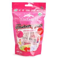 美国Yummy Earth 水果棒棒糖 草莓味 85g独立包装 宝宝零食品