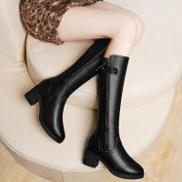 莫蕾蔻蕾2016冬季新款高筒靴粗跟防水台女靴6D623