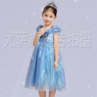 儿童婚纱礼服公主裙灰姑娘礼服迪士尼白雪公主裙女童花童演出服