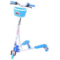 儿童车蛙式漂移车三轮滑板车折叠童车双后刹带减震多功能儿童车