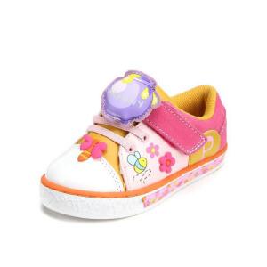 鞋柜SHOEBOX 女童可爱魔术贴舒适女童休闲鞋