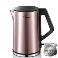 美的(Midea) WHJ1510b 电热水壶  食品级304不锈钢  烧水壶家用保温防烫