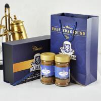 包邮~JABLUM牙买加原装进口蓝山咖啡100g*2瓶 黑咖啡粉礼盒装