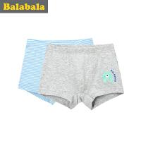 巴拉巴拉童装男童内裤男中大童平底短裤儿童平角裤2条装