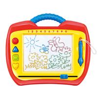 欢乐童年-TG教室儿童写字板彩色磁性有声画板带印章宝宝绘画板涂鸦板玩具