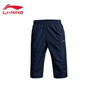 李宁夏季男装足球系列七分运动裤男士运动服AKQJ037